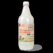 """Молоко """"Живое"""" пастеризованное 3,2% 0,9 кг"""