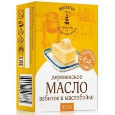 """Масло """"Деревенское"""" сладко-сливочное несоленое 82,5% 0,18 кг"""
