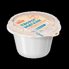 Творог из живого молока натуральный 0,18 кг м.ж.д. 9%