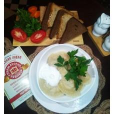 Готовое горячее блюдо вареники с капустой ручной работы 0,2 кг