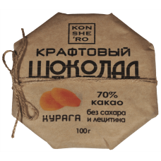 Крафтовый шоколад с курагой 0,1  кг